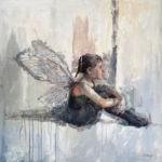 Lizaso - Petite fille - huile sur bois - 59 x 59 cm - sold