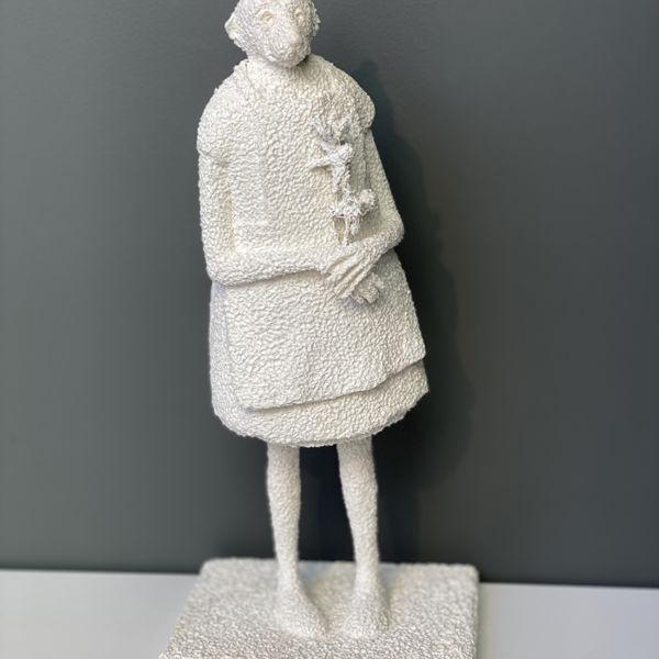 Lucette Brandy - Le jardinier - Papier mâché (pièce unique) - 27 x 9 x 7 cm - 1400 €